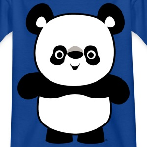 Heureux Petit Panda Cartoon T-Shirts Enfants Navy par Cheerful Madness!! - T-shirt Ado