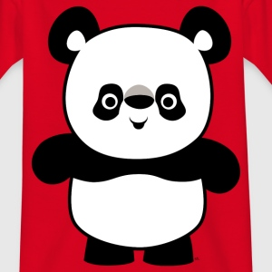 Red Cute Happy Cartoon Panda by Cheerful Madness!! Kids' Shirts - Teenage T-shirt