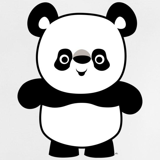 Cheerful Madness Cartoon Animals Cute Happy Cartoon Panda Baby T