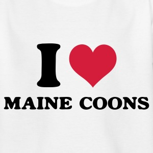 Weiß i love maine coons Kinder T-Shirts - Teenager T-Shirt