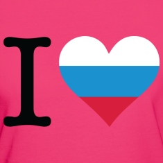 Neon pink I Love Russia 1 (DD) Women's T-Shirts