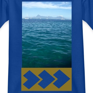 Bleu royal MOOREA LAGON VOILIERS T-shirts Enfants - T-shirt Ado