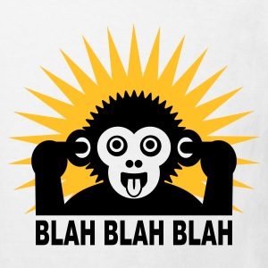 White Blah blah blah - Ape - light shirt Kids' Shirts - Kids' Organic T-shirt