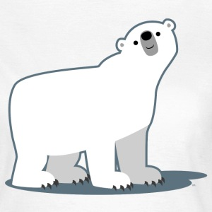 White Cute Cartoon Polar Bear by Cheerful Madness!! Women's T-Shirts - Women's T-Shirt