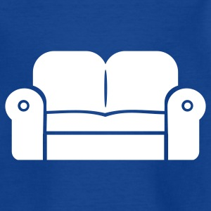 Royalblau Sofa – Couch Kinder T-Shirts - Teenager T-Shirt