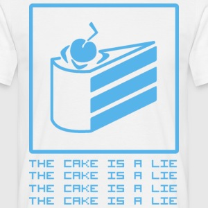 Weiß THE CAKE IS A LIE T-Shirts - Männer T-Shirt
