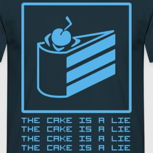 Navy THE CAKE IS A LIE T-Shirts - Männer T-Shirt