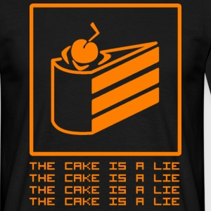 Schwarz THE CAKE IS A LIE T-Shirts - Männer T-Shirt