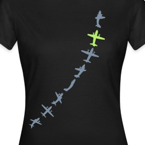 Girl GREENsilver Aircraft (Standard Shirt) - Frauen T-Shirt