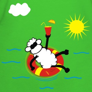 Light green Sheep on the beach Women's T-Shirts - Women's Organic T-shirt