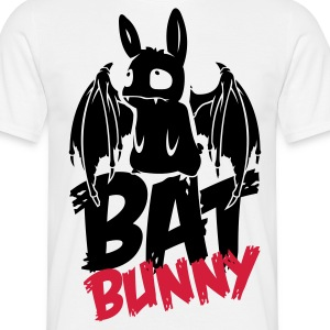 White bunny_bat_text Men's T-Shirts - Men's T-Shirt