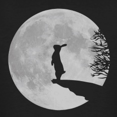 Wolfinchen rabbit bunny bunnies hare jackass moon werewolf fullmoon ledge T-Shirts