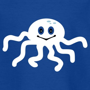 Koningsblauw inktvis / octopus (3c) Kinder shirts - Teenager T-shirt