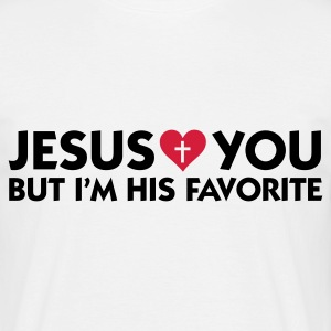 Bianco Jesus Loves You But Me More (2c) T-shirt - Maglietta da uomo