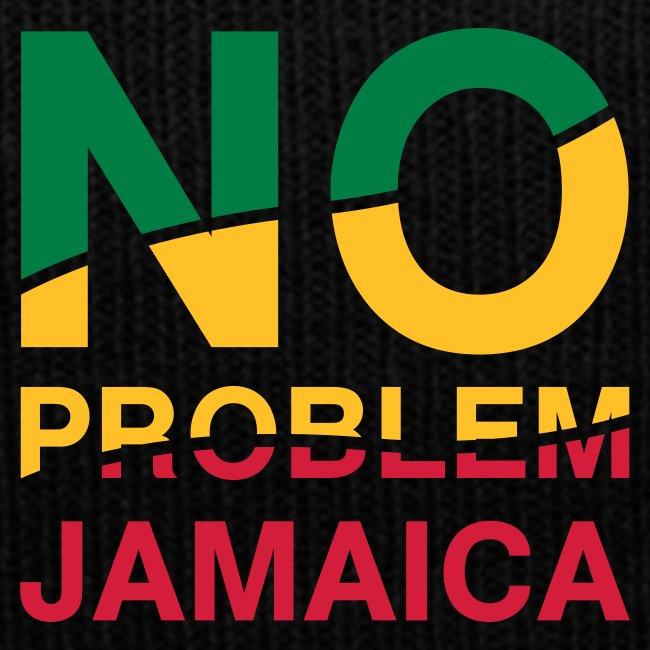 schwarze Jamaica-Mütze - No Problem in Reggaefarben