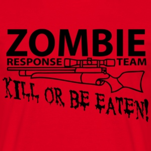 Rood Zombie Response Team T-shirts - Mannen T-shirt