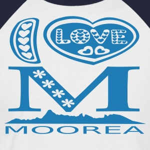I LOVE moorea t-shirts - T-shirt baseball manches courtes Homme