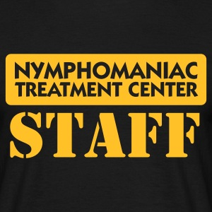 Negro Nymphomaniac Center Staff (1c) Camisetas - Camiseta hombre
