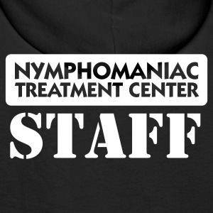 Noir Nymphomaniac Center Staff (1c) Sweatshirts - Sweat-shirt à capuche Premium pour hommes