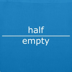 ::  half empty (for mugs and bags) :-:  - Bio stoffen tas