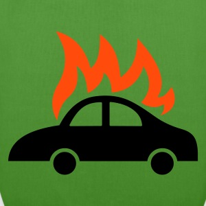 burning car  - EarthPositive Tote Bag