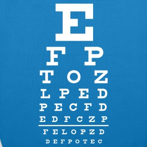 ::  eye chart :-:  - EarthPositive Tote Bag