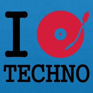 :: I dj / play / listen to techno :-:  - Borsa ecologica in tessuto