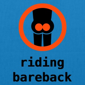 riding bareback hurts - EarthPositive Tote Bag
