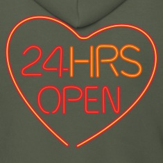 Neon: 24 HRS open heart
