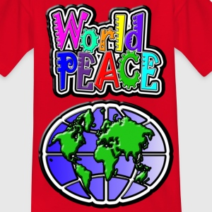 World peace - T-skjorte for tenåringer