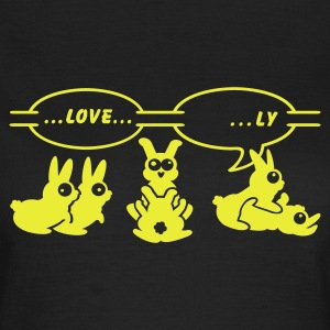 Sort love ... ly (1c) T-shirts - Dame-T-shirt