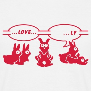 White love ... ly (1c) Men's T-Shirts - Men's T-Shirt