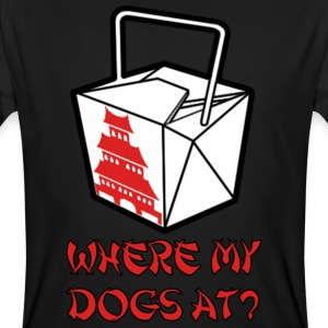 Where my dogs at? T-shirts - Mannen Bio-T-shirt
