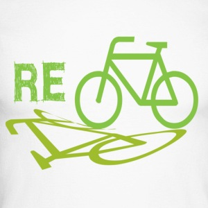 Cycle Re-cycle - Men's Long Sleeve Baseball T-Shirt