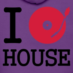 :: I dj / play / listen to house :-: - Premium hettejakke for kvinner