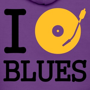 ::  I dj / play / listen to blues :-: - Frauen Premium Kapuzenjacke