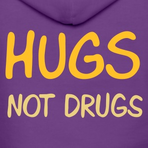 ::  hugs not drugs :-: - Frauen Premium Kapuzenjacke