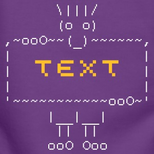 ::  ascii art: troll + your text :-: - Felpa con zip premium da donna