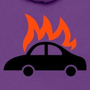 burning car  - Frauen Premium Kapuzenjacke