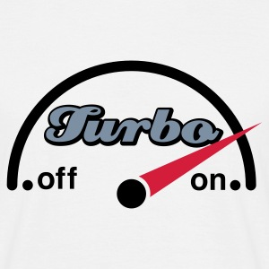 Weiß Turbo Cockpit © T-Shirts - Mannen T-shirt