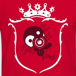 Red/white Coat of arms Men's T-Shirts - Men's Ringer Shirt