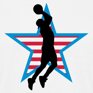 basketball_star_a_3c T-shirts - Mannen T-shirt