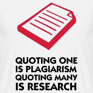 Wit Quoting Plagiarism & Research (2c) T-shirts - Mannen T-shirt