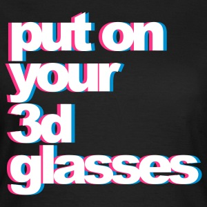 Schwarz 3D Glasses T-Shirts - Frauen T-Shirt