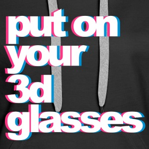 Black 3D Glasses Hoodies & Sweatshirts - Women's Premium Hoodie
