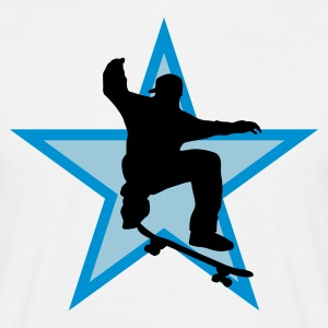 skater_star_b_3c T-Shirts - Men's T-Shirt