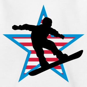 snowboard_star_a_3c Shirts - Teenage T-shirt