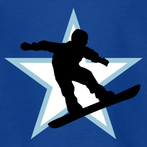 snowboard_star_b_3c Shirts - Teenage T-shirt
