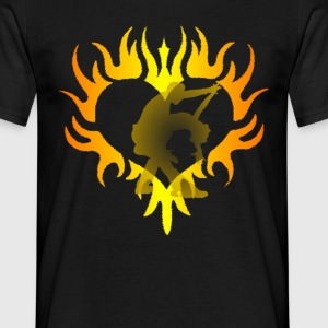 heart fire - Men's T-Shirt