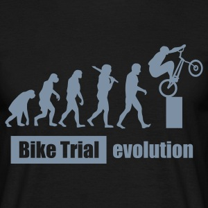 Bike Trial Evolution, mit Text T-Shirts - Männer T-Shirt